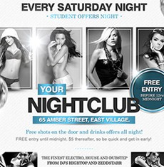 Every Saturday Night Flyer Template