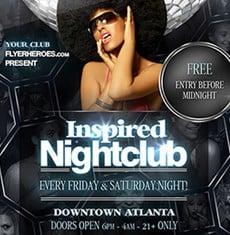 Inspired Nightclub Flyer Template