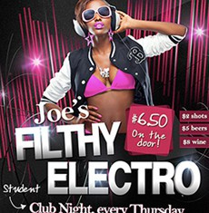 Joe's Filthy Electro Flyer Template