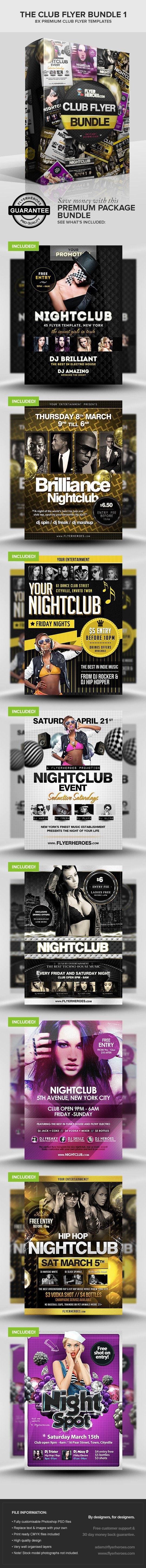 The Club Flyer Bundle 1