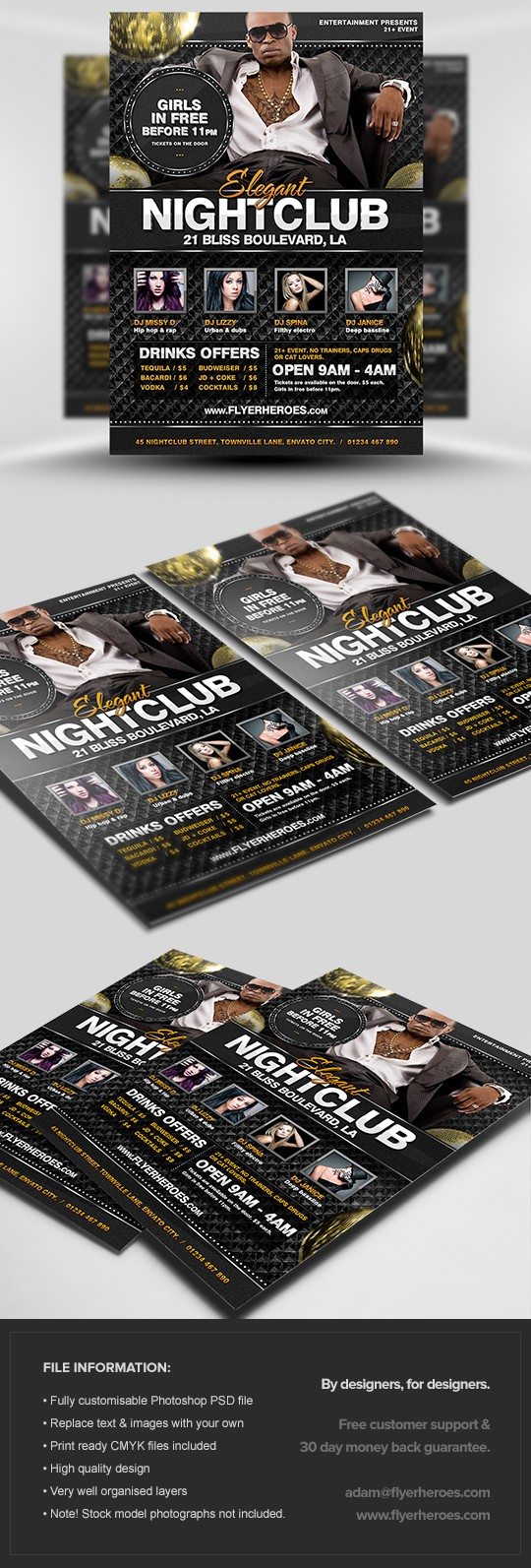 Elegant Nightclub Flyer Template