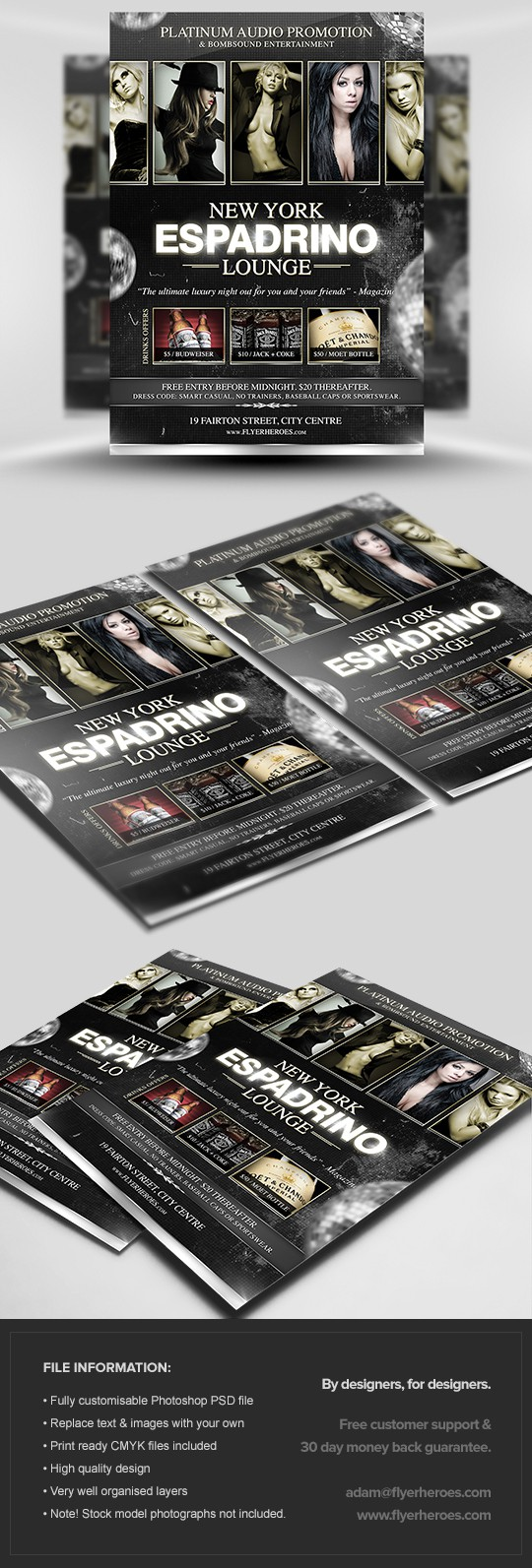 Espadrino Lounge Flyer Template