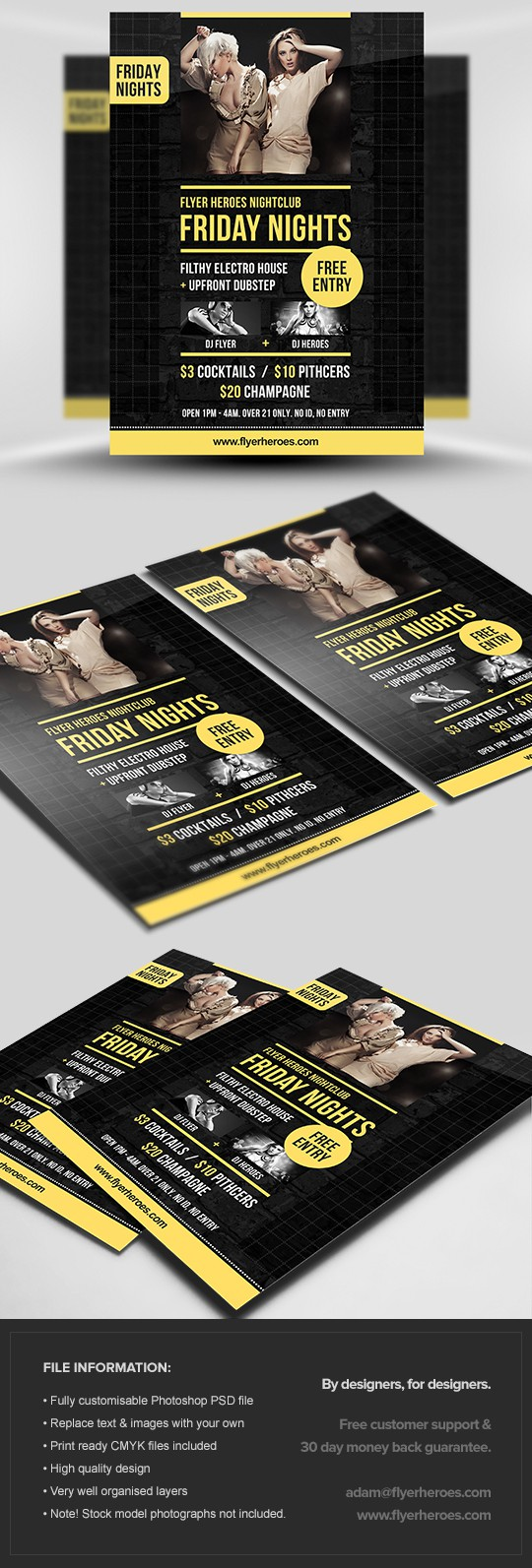 Friday Nights Flyer Template