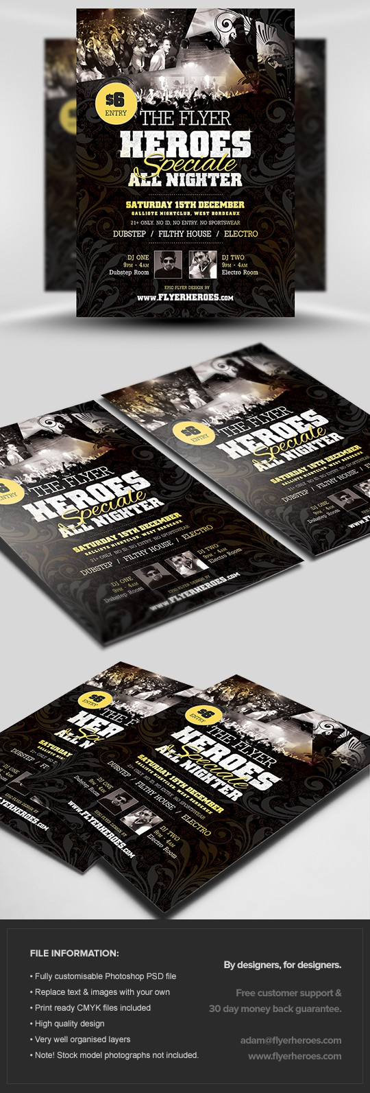 Heroes Special Party Flyer Template