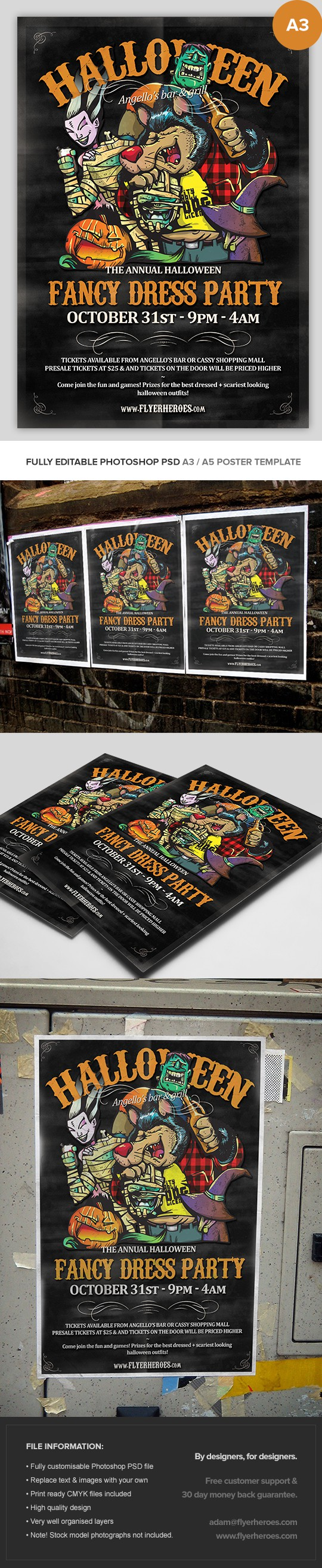 Illustrated Halloween Poster Template Vol. 1