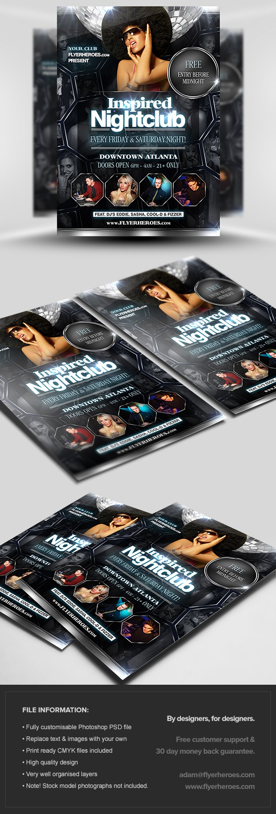 Inspired Nightclub Flyer Template