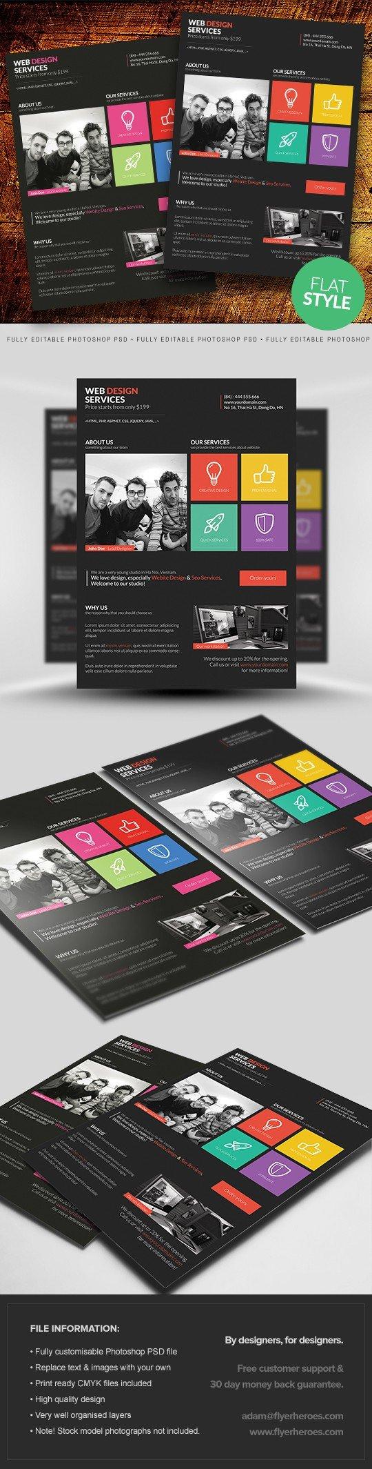 Metro Style Web Design Flyer Template