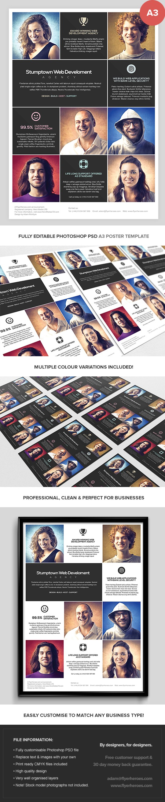 Multipurpose A3 Business Poster Template
