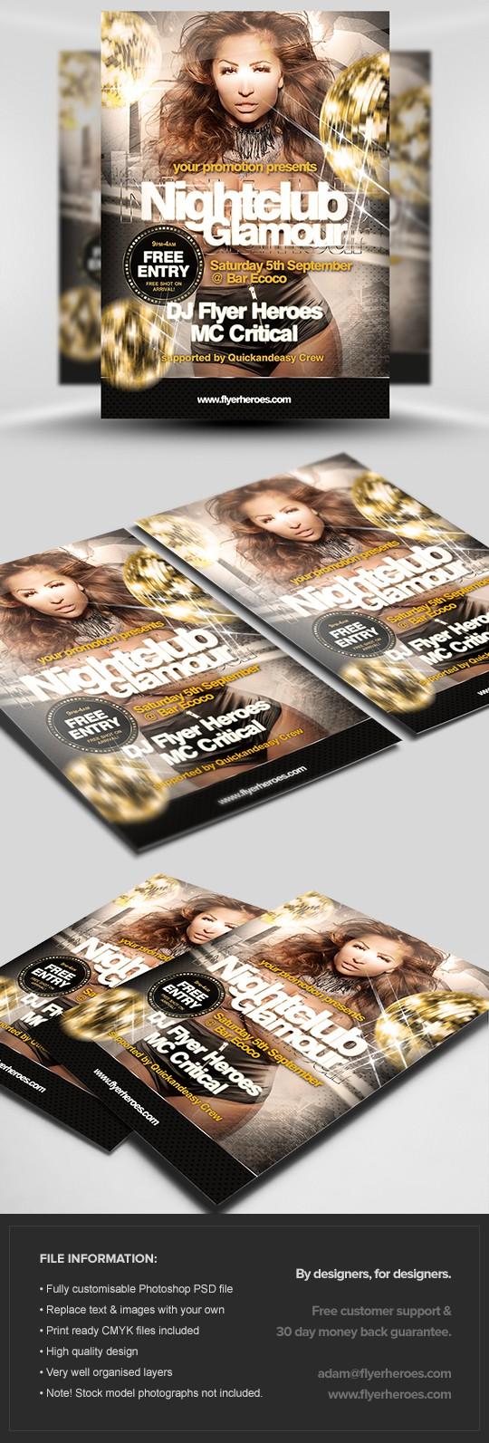Nightclub Glamour Flyer Template