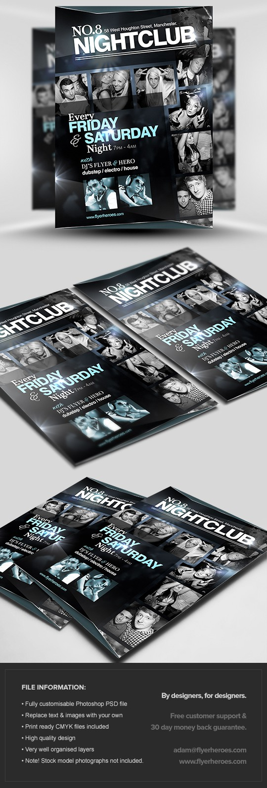 No.8 Nightclub Flyer Template