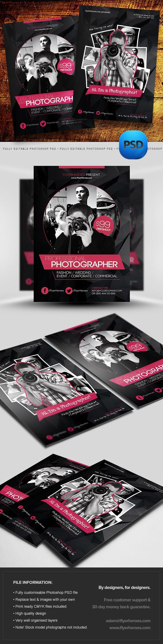 Photography Flyer Templates Set 1