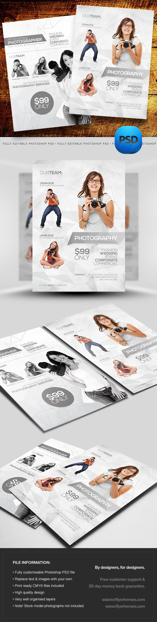 Photography Flyer Templates Set 2