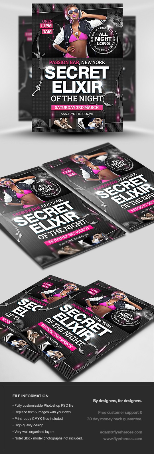 Secret Elixr Flyer Template