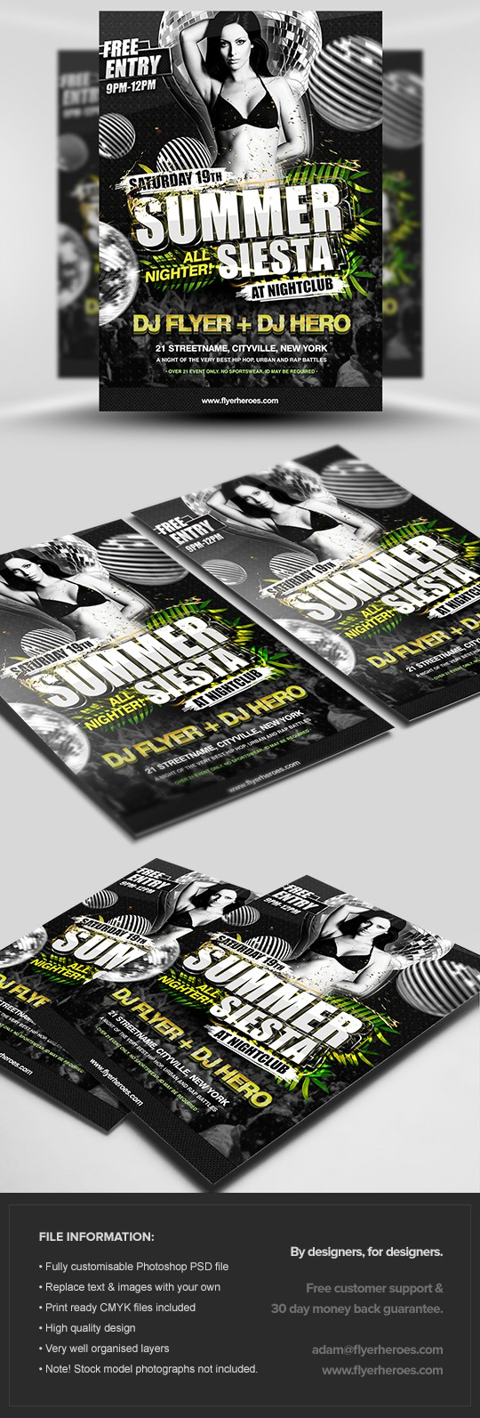 Summer Siesta Flyer Template