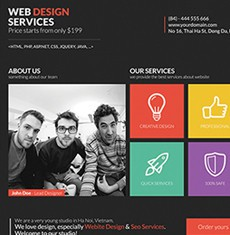 Metro Style Web Design Flyer Template