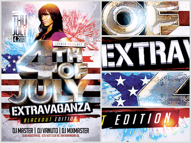 fourth july flyer templates free
