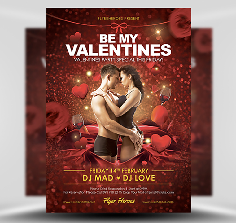 Be My Valentine Flyer Template