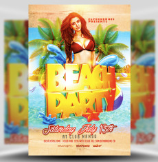 Beack Party Flyer Template 1