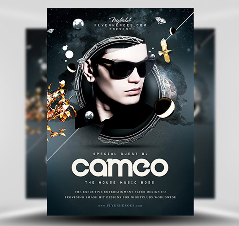 Cameo PSD Flyer Template 1