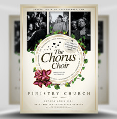 Chorus Choir PSD Flyer Template 1