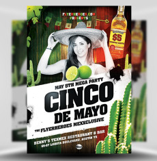 Cinco De Mayo Flyer Template 1