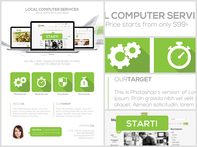 Computer Services Flyer Template - FlyerHeroes