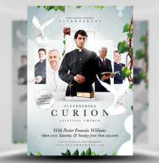 Curion Church PSD Flyer Template 1