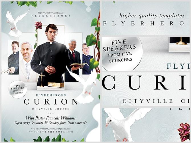 Curion Church Flyer Template - FlyerHeroes