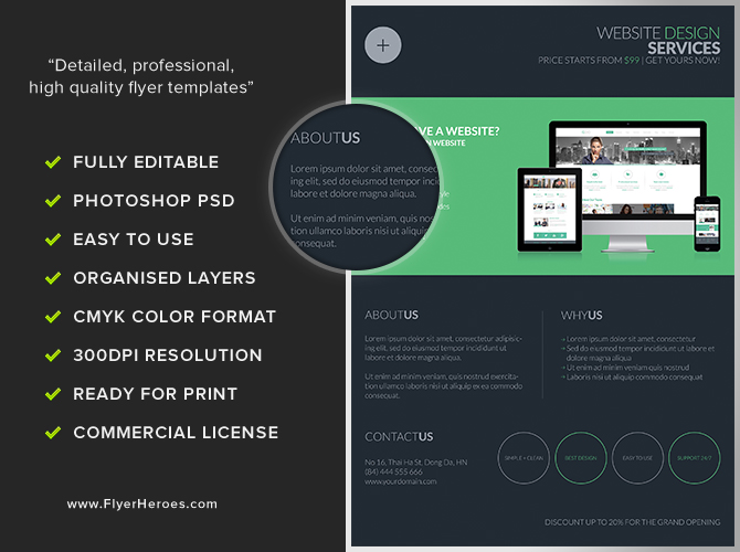 Website Flyer Template. website design agency flyer template by ...
