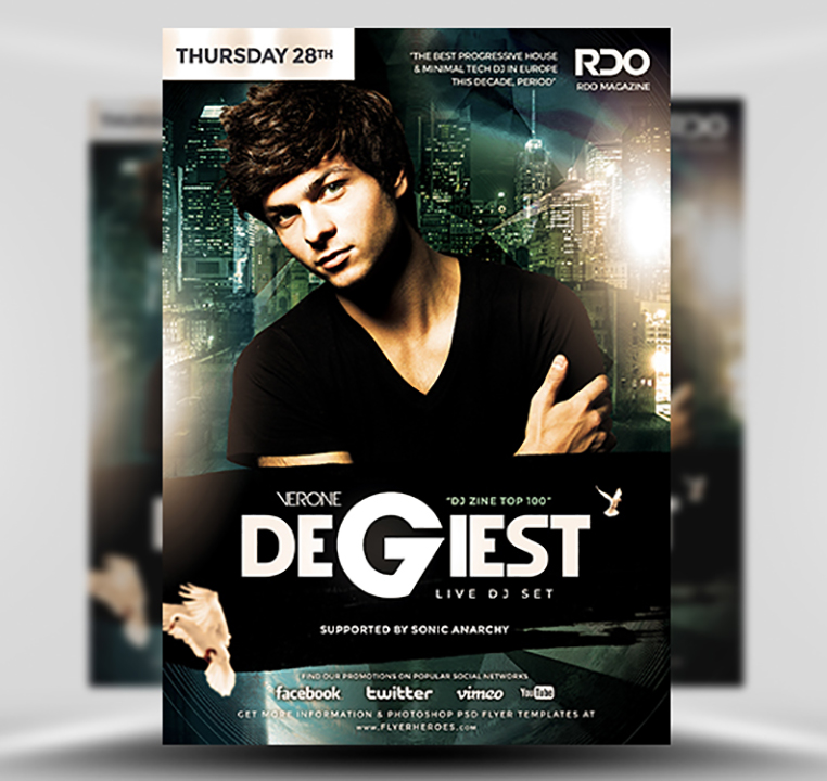 Degiest PSD Flyer Template 1