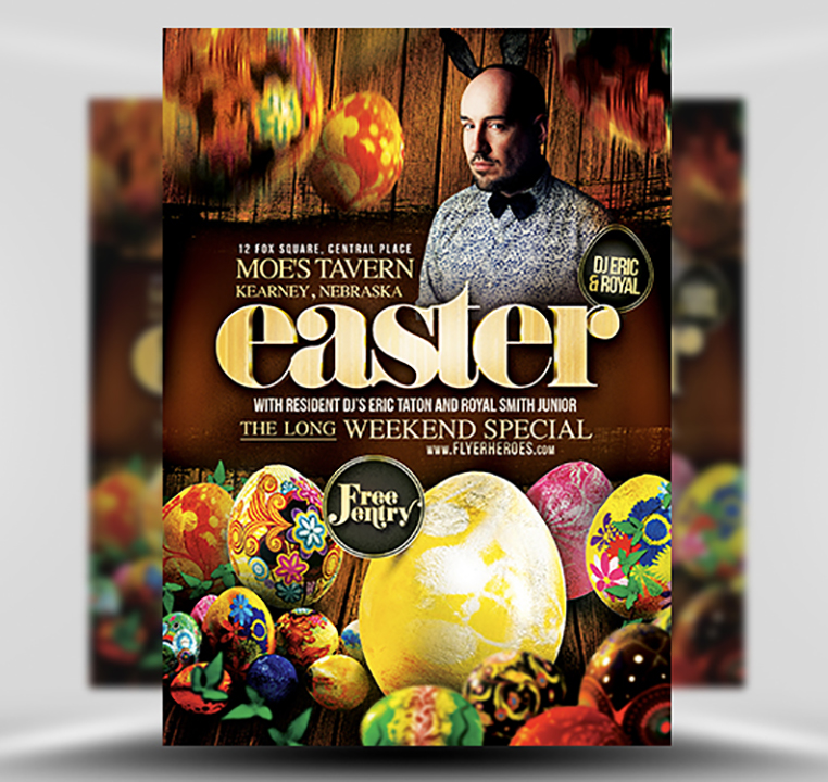 Easter PSD Flyer Template 1