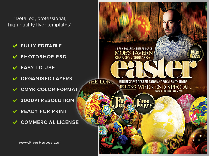 attractive easter flyer template free download happy easter flyer