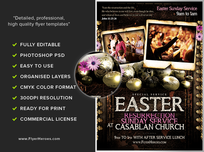 Easter Sunday Flyer Template - FlyerHeroes
