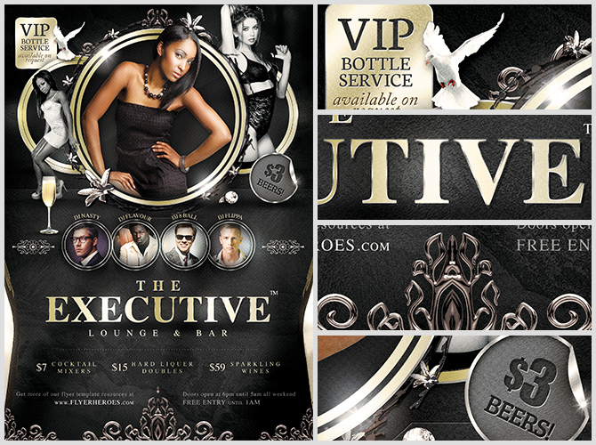 The Executive Lounge Flyer Template - Flyerheroes
