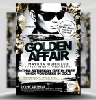 Golden Affair PSD FLyer Template 1