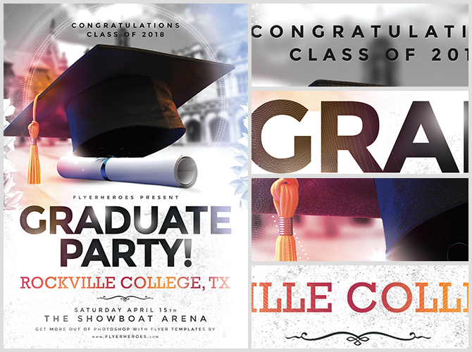 Graduation Party Flyer Template - FlyerHeroes