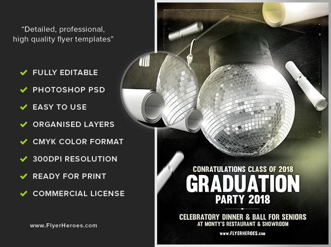 Graduation Flyer Template - FlyerHeroes
