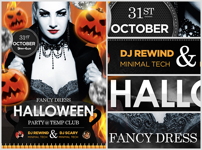 halloween flyer template halloween flyer template is a bright bold ...