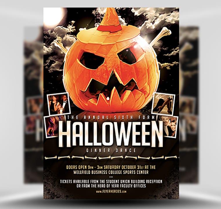 Halloween Party Flyer Template 815 The Pumpkin 2 FlyerHeroes – Halloween Party Flyer