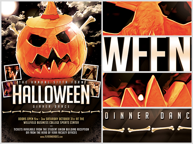 Halloween Party Flyer Template 8.15 - The Pumpkin 2 - FlyerHeroes
