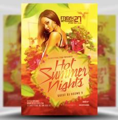 Hot Summer Nights Flyer Template 1