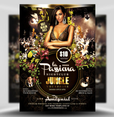 La Passiana PSD Flyer Template 1