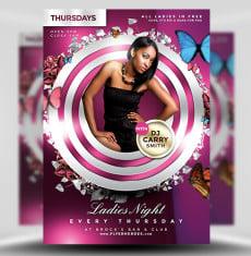 Ladies Night PSD Flyer Template 1