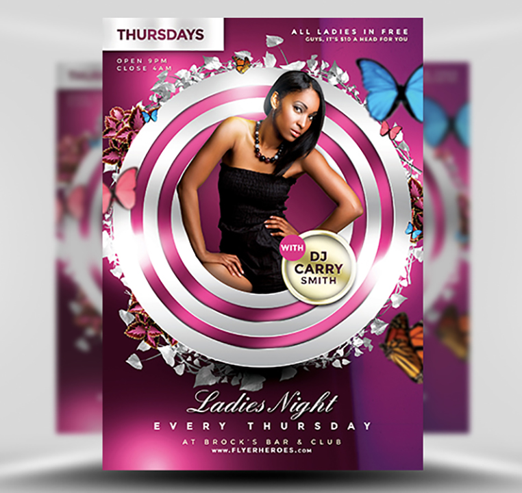 Ladies Night PSD Flyer Template 1