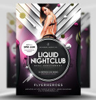 Liquid Nightclub PSD Flyer Template 1