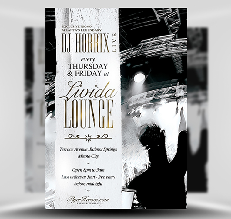 Livida Lounge PSD Flyer Template 1