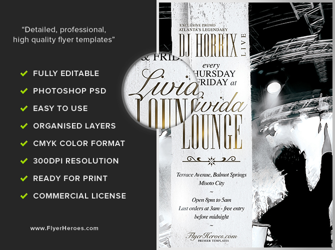 Livida Lounge Flyer Template - Flyerheroes