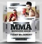 MMA Showdown Shock PSD Flyer Template 1