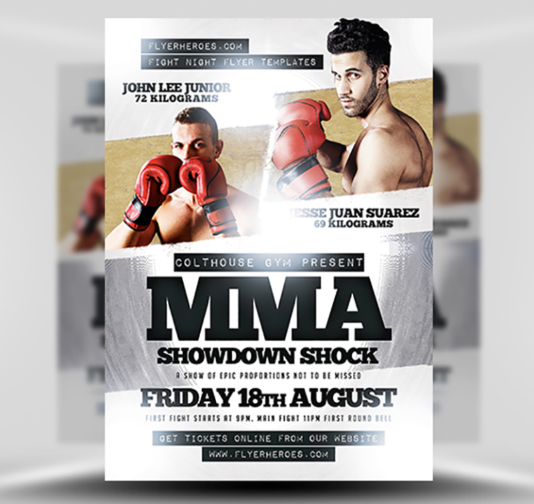 MMA Showdown Shock PSD Flyer Template 1