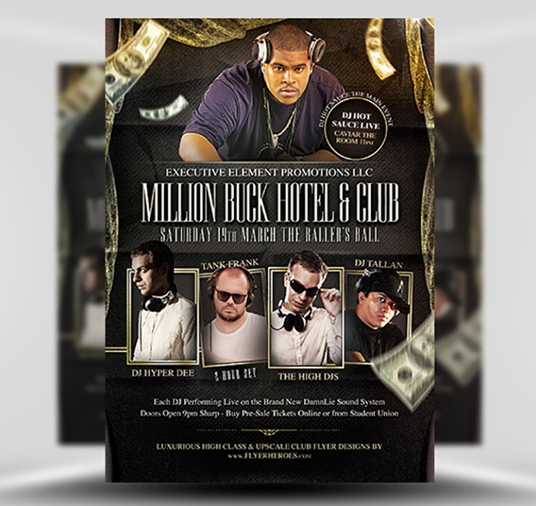 Million Buck PSD Flyer Template 1